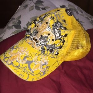 Ed Hardy Embroidered Saints Hat